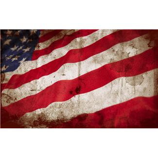 US Flag tattered